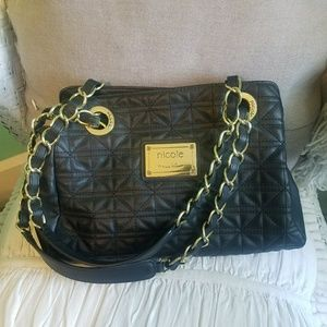 Nicole Miller black purse